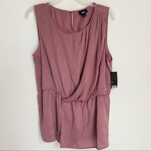 Mauve sleeveless textured blouse size large